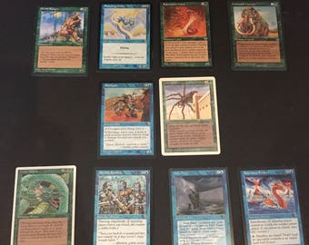 Vintage 1994-96 Magic the Gathering Lot of 10 Cards - Rares ?