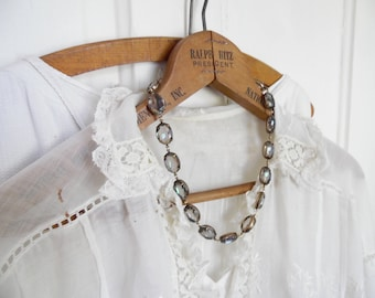 """gray statement necklace, grey necklace, collet necklace, Anna Wintour necklace, Georgian jewelry, grey statement necklace.  """"Tide Pool"""""""