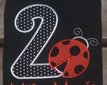 Ladybug birthday onesie/shirt. Personlized for free!