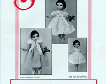 Seeley's Dollmaker's Pattern No. CP924 Pickles' Wardrobe Doll size 12""