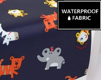 "WATERPROOF Fabric - Animal Pattern, by Yard, 150cm(59"") Width"