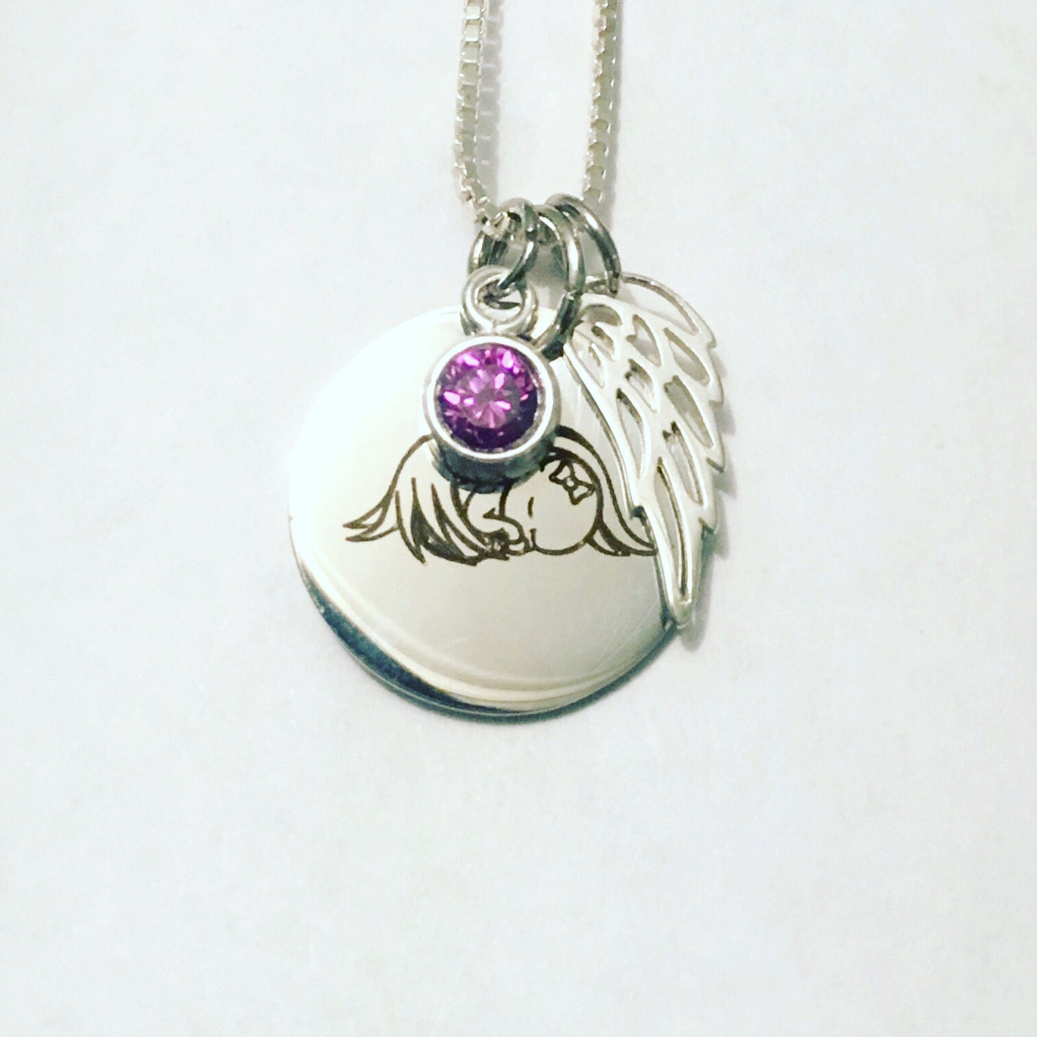 make collection and miscarriage sterling angel product full image my memorial silvshop day necklace