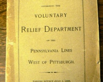 vintage Pennsylvania ephemera  ... REGULATIONS voluntary RELIEF DEPARTMENT 1901 ephemera  ...