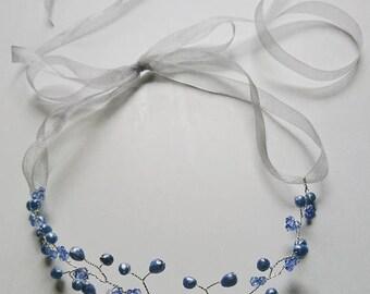 Blue Pearlescant Hair Vine