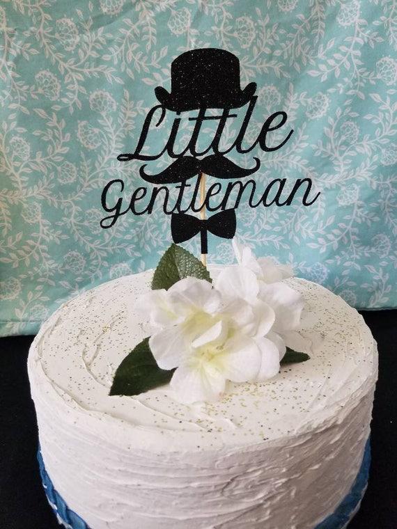 Little Gentleman Baby Shower Cake Topper Cupcake Topper Baby
