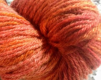 Hand Dyed Yarn Worsted Weight Wool Autumn Leaves 100 grams