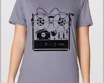 Small - Unisex Reel to Reel - American Apparel T Shirt - Full Spectrum Apparel