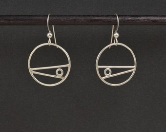 Circles with Lines Earrings