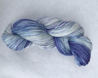 Hand dyed yarn/ lilac romance