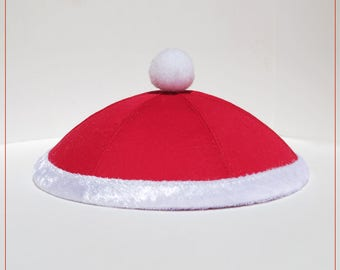 Chrismukkah yarmulke kippah yamaclause. Medium size.