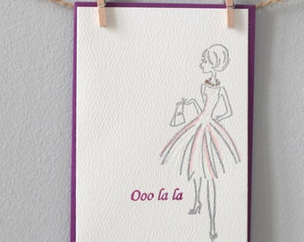 Greeting card- Ooo la la