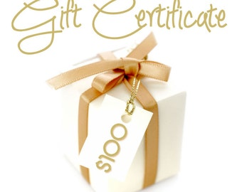 Gift Certificate 100 Dollars / By Jodi / Jewelry