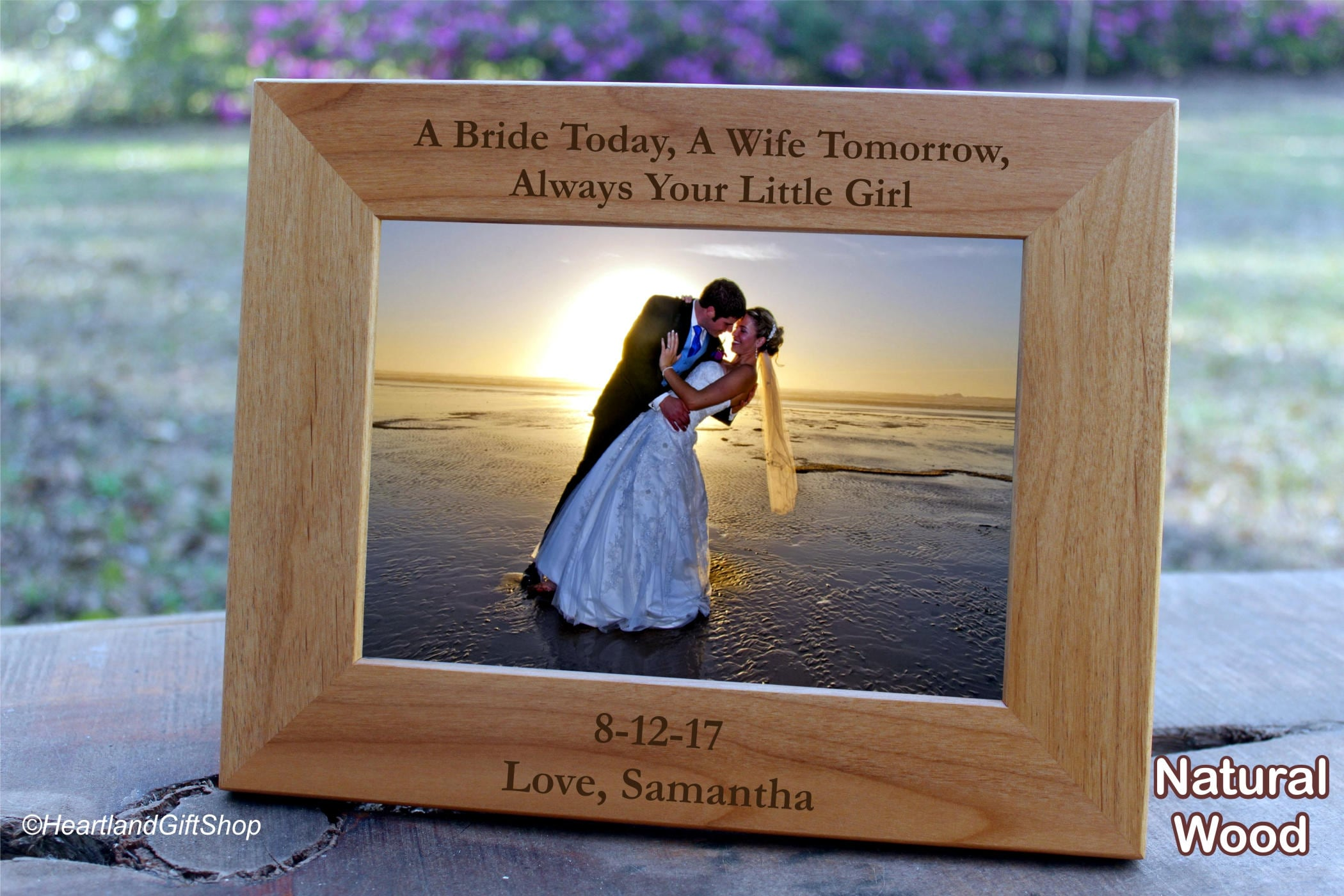 Father of the Bride Gift from Bride Picture Frame Brides