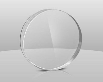 "Clear Acrylic Plexiglass 1/8"" Plastic Sheet CIRCLE DISC DIAMETER"