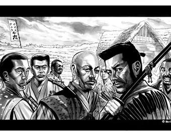 Seven Samurai Print