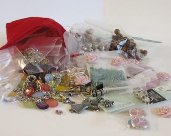 Jewelry Making Supplies, Jewelry Making Bulk Bag, Craft Making Grab Bag, Grab Bag 7
