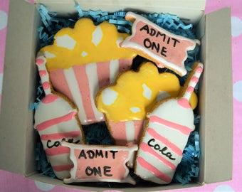 Dante's Movie Night Cookie Box /Healthy Dog Treats /Organic Dog Treats /Movie Night Treats /Dog Birthday /Dog Owner Gift /Organic Dog Bakery