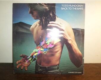 Vintage 1978 Vinyl LP Record Back to the Bars Todd Rundgren Live Double LP Excellent Condition 9784