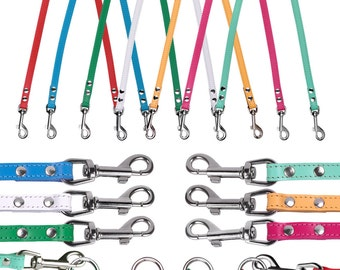 Dog Leash Coupler Small Large Red Mint Pink Blue Yellow White Green