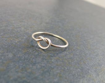 Love Knot Ring, Sterling Silver, simplicity