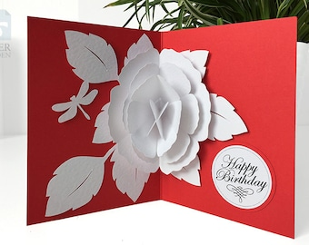 vintage hallmark christmas card die cut pop up card