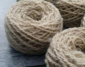 Handspun, Jacob Wool, White Jacob, Light dk Weight Yarn 50g, 1.8 ounces