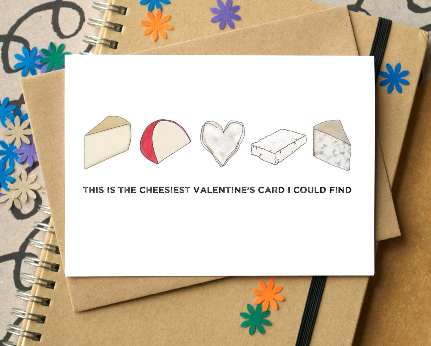 Cheesy Valentines Card Funny Valentines Card