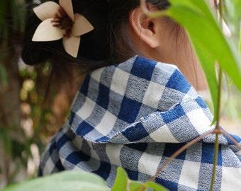 Organic Indigo Multi-purposed scarf/wrap
