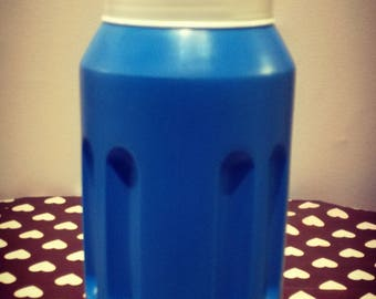 White and electric blue vintage thermos brand GEZI (1 L) new