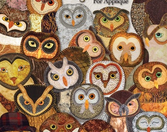 Quilt Book -- Outstanding Owls -- Applique Quilting Pattern Book -- Owl Quilts for Applique by Hand or Fusible -- Owl Patterns