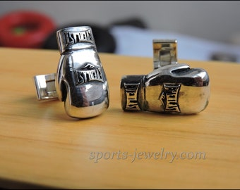 Boxing gloves cufflinks Sports cufflinks