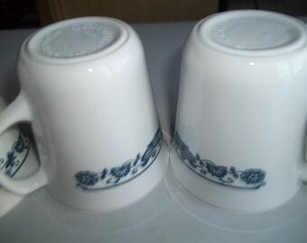 4 Corelle Old Town aka Blue Onion Mugs