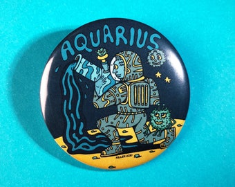"Aquarius 2.25"" Button / Magnet"
