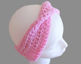 Womens Fashion Hairband, Earwarmer Headband, Turban Ear warmers, Twist Headband, Twist Ear warmers, Pink Turband, Yoga Hairband