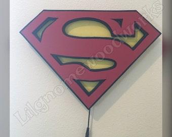 Superman LED light sign