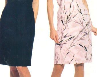"McCalls 2460, Sz 8-12/Bust 31.5-34"".  Sleeveless Sheath Dress/EASY Little Black Dress/Ladies Summer Dress, UNCUT 90s Stitch 'N Save pattern"