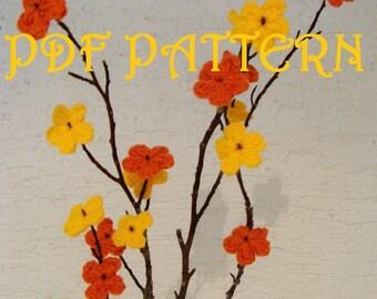 Crochet Blooming Branch PDF Pattern