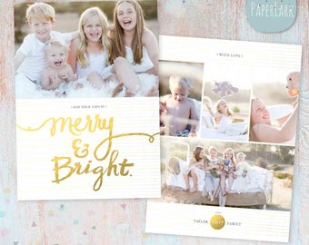 Holiday Christmas Card Template - Photoshop template - AC038 - INSTANT DOWNLOAD