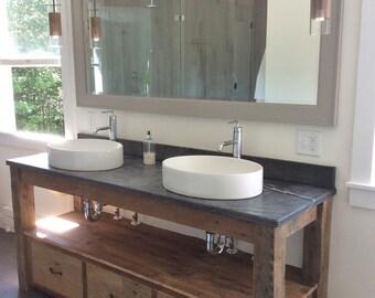 Rustic vanity etsy for Bathroom vanities mokena il