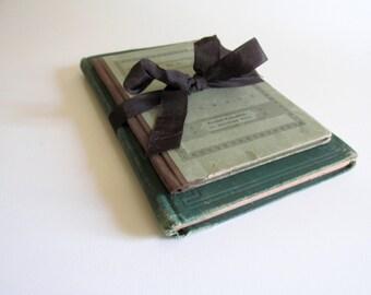 Antique German Books Religious Salvaged Aged Paper Ephemera