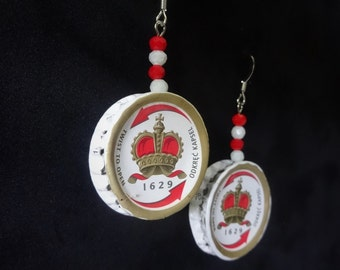 Tyskie beer cap earrings