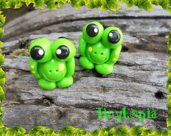 Mini Green Frog Terrarium Fairy Garden Accessory