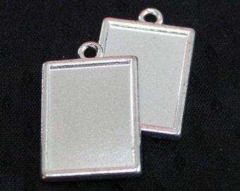 6pcs--Cabochon Settings, Silver Tone, (B12-6)