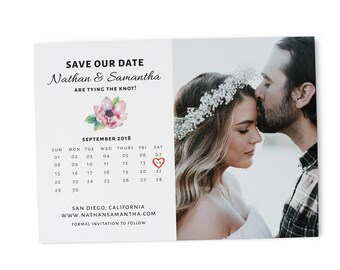 Simple Save the Date Printable, Save the Date Cards, Personalized Save the Date Cards #17
