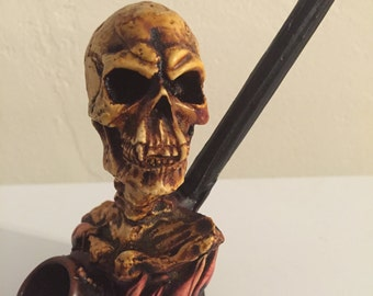 Tobacco Hand Made Pipe, Demon Skull Design