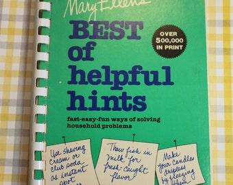 Mary Ellens Best of Helpful Hints, 1979 vintage book, Mary Ellen Pinkham, Household Hints