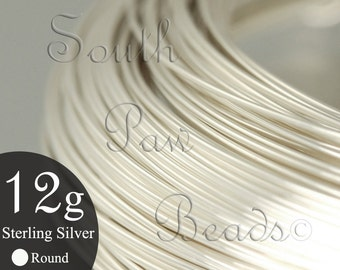 1/2 troy oz Round Sterling Silver Wire 12 gauge dead soft, approximately 1.45 feet