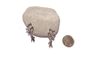Vintage Bond Boyd Sterling Celestial screw back earrings, Sterling silver celestial earrings, gift for her, Designer earrings, Screwbacks