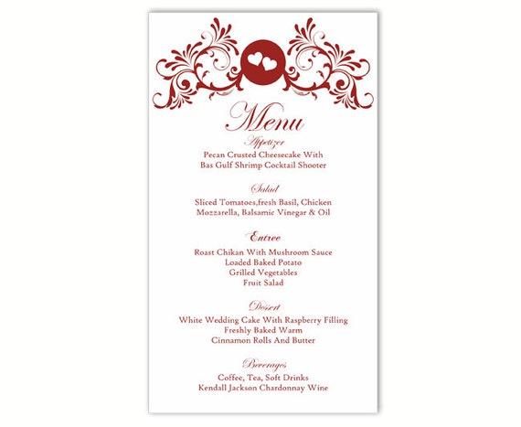 wedding menu template diy menu card template editable text. Black Bedroom Furniture Sets. Home Design Ideas