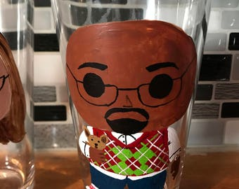 Funko POP theme custom hand painted pint glass, beer glass